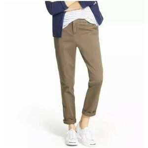 Caslon 6 Flat Front Zip Fly Chino Ankle Crop Pants